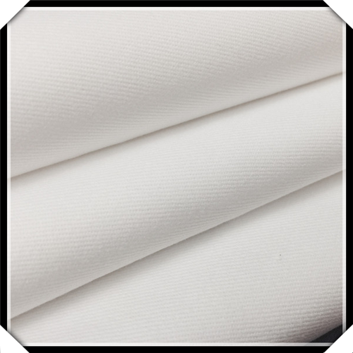 Poly / Cotton Twill White Clothing Matériau Tissu