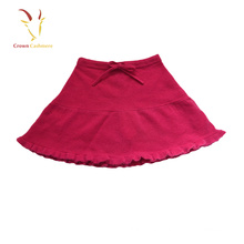 Plain Kid Short Cashmere Ruffle Skirt