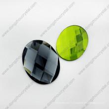 Perles de vêtement en verre ovales en vrac