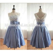 Короткие белые кружева свадебное платье горячая стиль пятно небольшой формальный наряд из двух частей свадебное платье