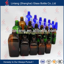 High quality amber essential oil glass bottle with screw cap wholesale