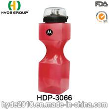 750ml BPA Popular gratis PE plástico beber botella de agua del deporte (HDP-3066)