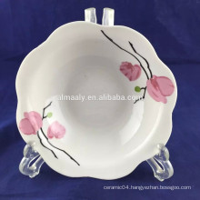 white ceramic chicken water bowl