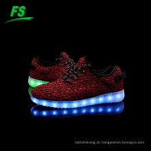 2016 levou homens calçados esportivos, luzes led mulheres tênis, luzes led crianças sapatos