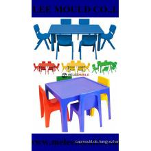 Plastikvorschulstuhl-Tabellen-gesetzte Form