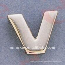 """Accesorios decorativos del bolso """"V"""", letra pequeña (O35-675A-V)"""