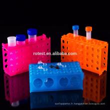 Support de tube à centrifuger polyvalent en plastique