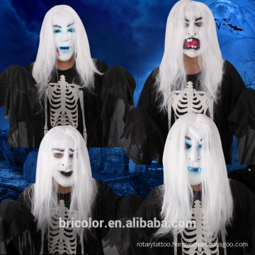 High quality Masquerade Horror Bride With White Hair mask