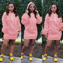 Cheapest Product High Collar Custom Sweat Trending Dresses 2021 Women Clothing Suit Sweatshirt MIDI Dress Women