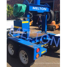 cheap price Mobile forklift solid tire press machine