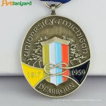 Medalha de metal de lembrança personalizada com chapeado
