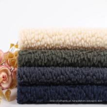 Tecido de lã polar Sherpa mais espesso em malha colada de lã