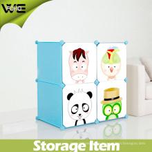 Armario de plástico Armario Dormitorio plegable Caja de almacenamiento de los niños