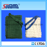 Pre Washed Sterile Lap Sponges with Green and White Color