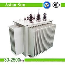Transformador de energía de 11 kv 630kVA 1000kVA aceite Toroidal transformador lleno