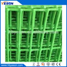 El mercado indio popular brillante y verde pvc recubrimiento de malla de alambre de hierro soldado