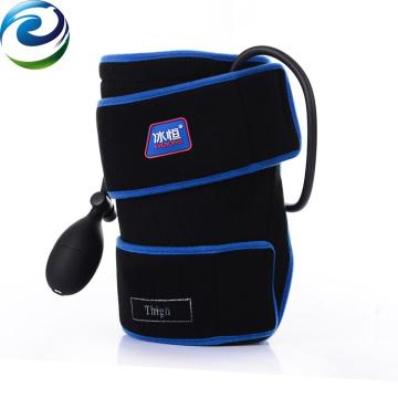 Intermitente compresión neumática muslo paquete frío envoltura de nylon