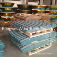 High Quality OEM Jaw Crusher Fixed/Movable Jaw Plate for Metso