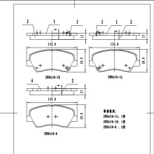D1543  china auto brake pads  wear sensor car brake pads wear sensor for KIA