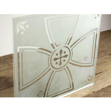 Good quality modern acid etched glass solid flat tempered glass