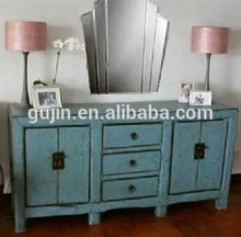 ming style furniture distressed blue sideboard buffet tv media console