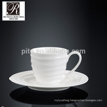 hotel ocean line fashion elegance white porcelain cafe cup espresso cup coffee cup