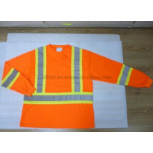 Safety Polo Shirt with Warning Band and Long Sleeve