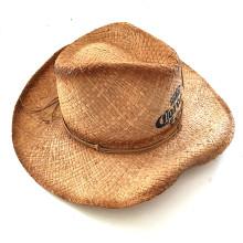 Senhora chapéu de palha para a moda