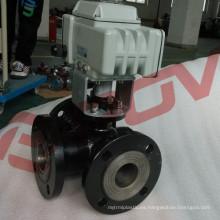 Válvula de desvío de agua eléctrica con bridas de acero al carbono