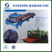 CNC color glazed steel tile roll forming machine/ roof machinary