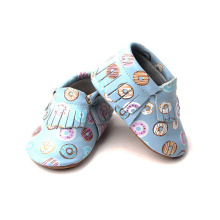 Mjuk Sole Nyfödd Tjej Moccasin Toddler Shoes