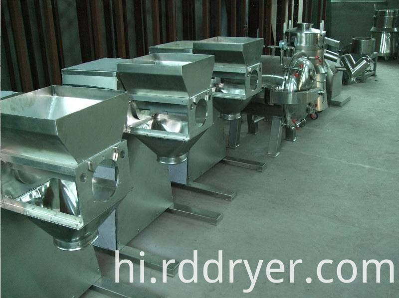 swing granulator for wet powder