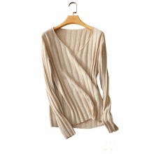 16GG New winter 100%cashmere sweater lady V collar pullover fashion color knit sweater woment slim shirt