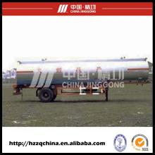 Nagelneuer Tankwagen des Kohlenstoffstahl-Q345liquid (HZZ9140GYY) mit Hochleistung für Käufer