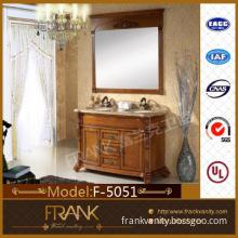 "Frank 62.2\"" classic 2 basin wooden bathroom cabinet furniture F-5051"