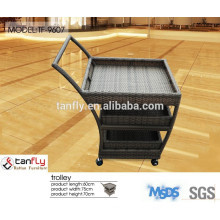 Wholesale price outdoor furniture rattan trolley car dining cart