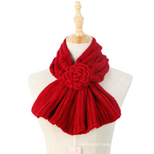 Classic Knitted Winter Bow Light Hand Made Flower Scarf (SK182)