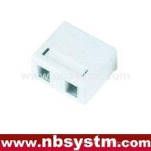 Boîte de surface à 2 ports avec clé à clé ou sans
