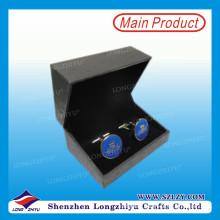 Оптовая продажа пользовательские мода эмаль запонки с коробкой