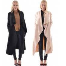 Europeu novo Brand Windbreaker Jacket Mulheres Long Cardigan