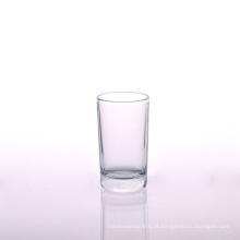 Copo de vidro transparente pequeno em 5 oz