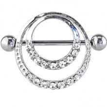 Clear Romantic Gem Hoop Nipple Shield