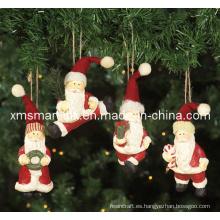 Polyresin Santa Colgante regalos, decoración de Navidad colgante