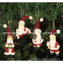 Polyresin Hanging Santa Gifts, Christmas Hanging Decoration