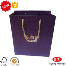 Elegant customized hot foil gift paper bag