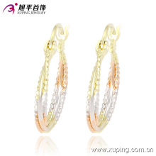 Fashion Xuping Simple Cheaper Women Multicolor Circle No Stone Jewelry Hoop Earring -90860 on Promotion Sales