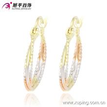 Мода Xuping простые дешевые женщины многоцветный круг не камень ювелирные изделия обруч серьги -90860 на стимулирование сбыта