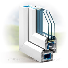 High fireproof, non-ageing uPVC Profile Door and Window