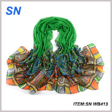 Good Quality Fashionable Scarf Cheap Silk Shawl