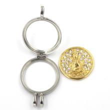 Edelstahl-Vakuum-Überzug Hollow Jewelry Locket